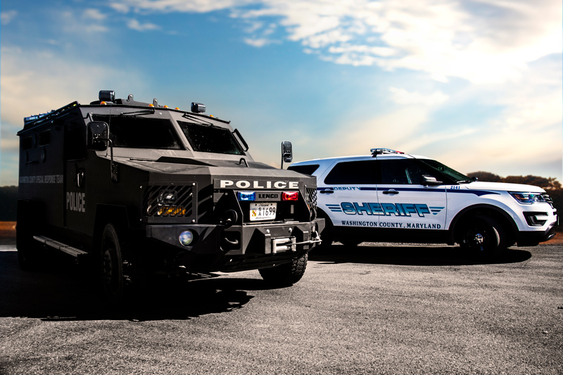 Washington County Sheriff's Office vehicles.
