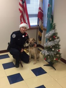 K-9 Kirby with DFC Almy.